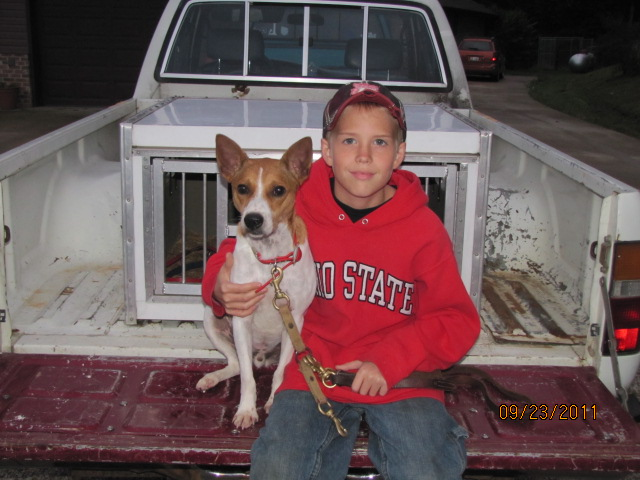This was this young mans first little squirrel dog!